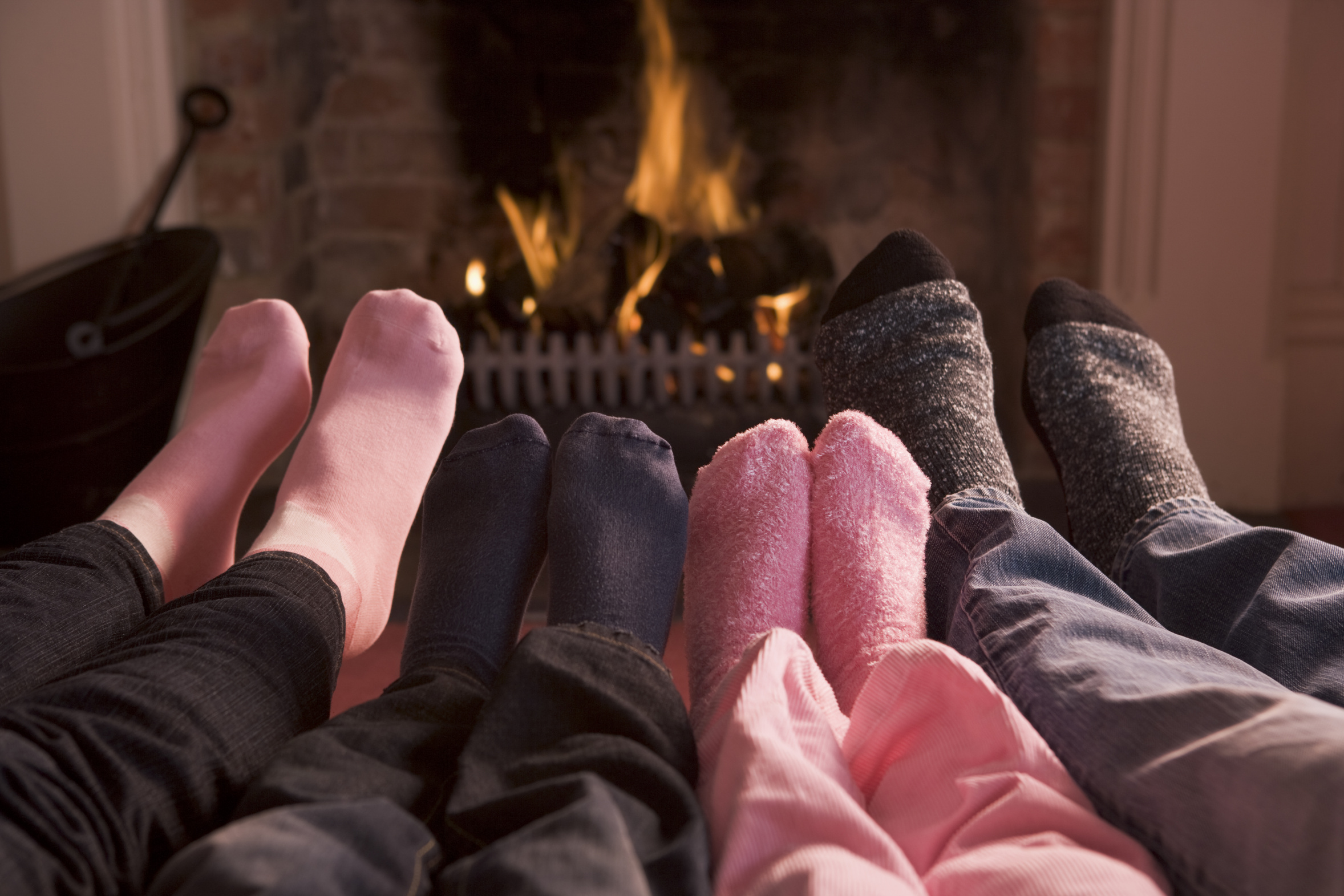 Feet up by the fire