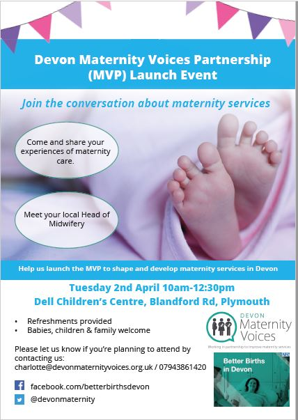 Maternity voices launch plymouth flyer
