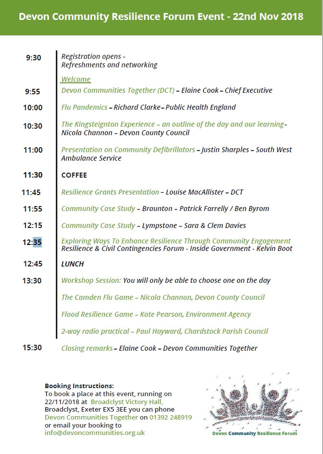 resilience event programme