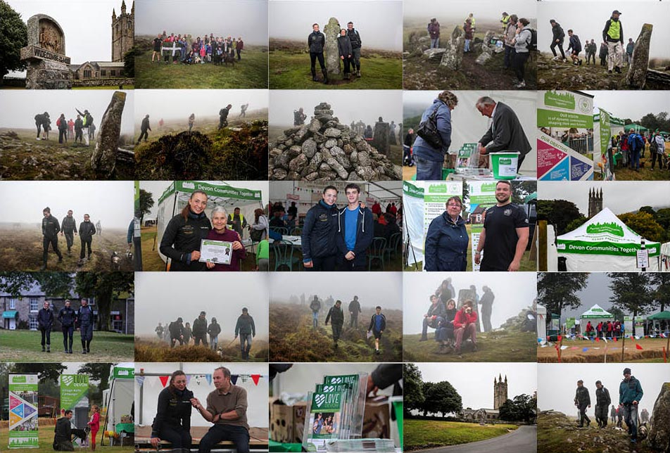 Walk for Widecombe photo montage