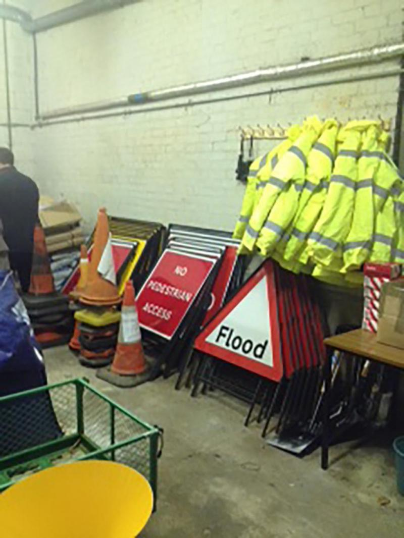 Community Resilience store - flood signs etc