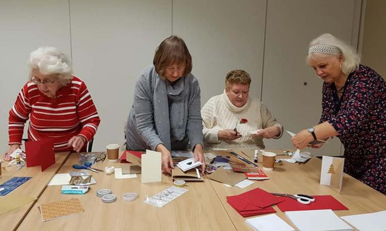 Merry Widows project - older people crafting
