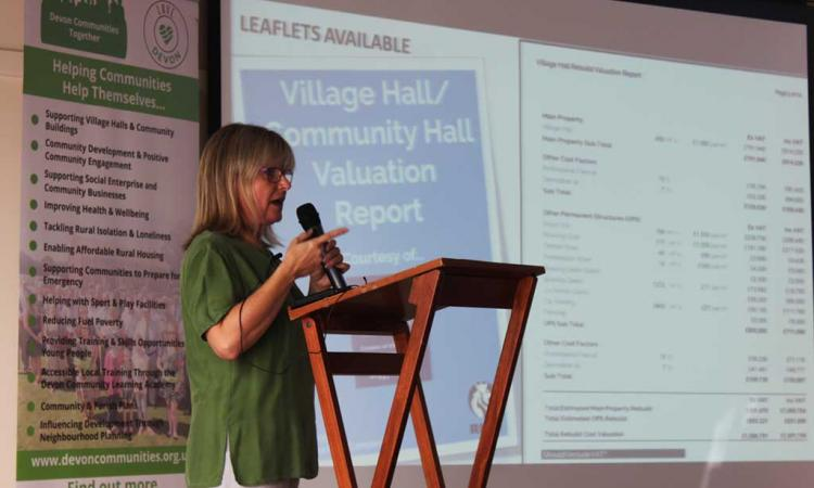 A speaker addresses the Rural Futures Conference